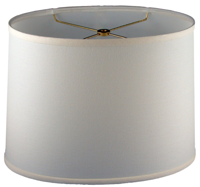 Oval elliptical drum hardback lampshade