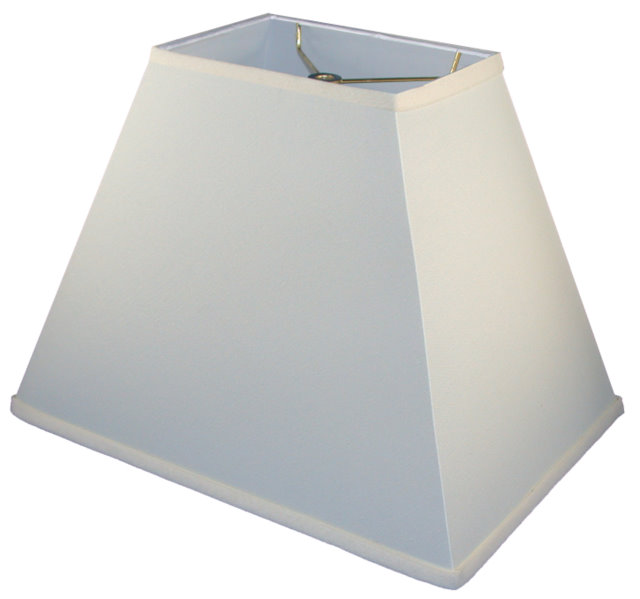 Sharp corner rectangle empire hardback lampshade