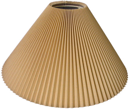 Knife pleat hardback lampshade style