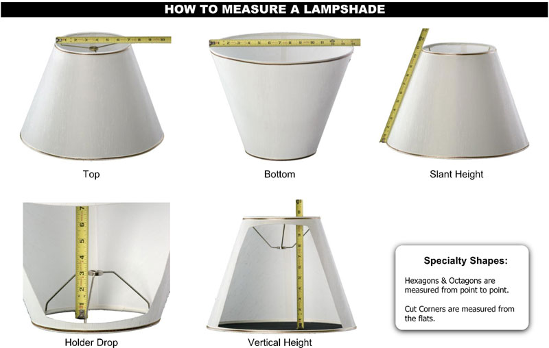 How to measure lampshades