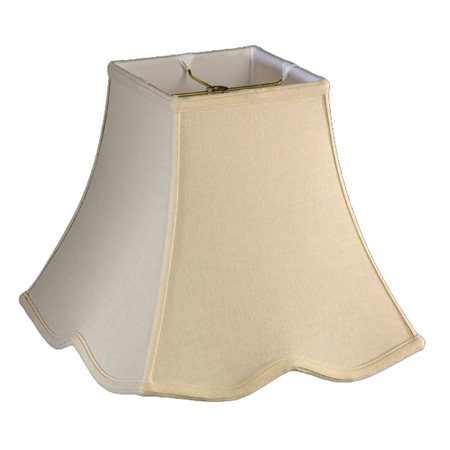 Square Top, Down Scallop Square Bottom Soft Tailored Lampshade