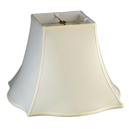 Square Top, Outscallop Square Bottom Soft Tailored Lampshade