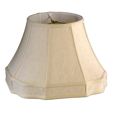 Round Top, Outscallop Octagon Bottom w/ Gallery Soft Tailored Lampshade