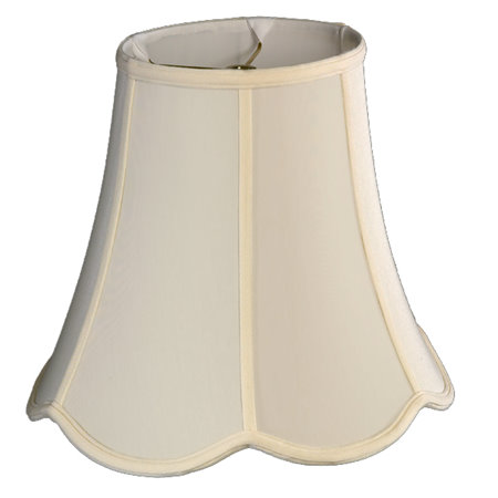 Oval Top, Down Scallop Oval Bottom Soft Tailored Lampshade