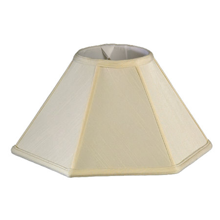 Round Top, Hexagon Bottom, Coolie Soft Tailored Lampshade