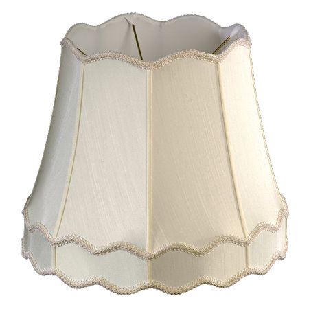 Scallop Top & Bottom w/ Gallery Soft Tailored Lampshade