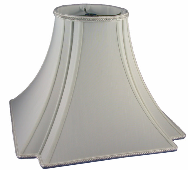 Round Top, Inverted Notched Sq. Bottom  Soft Tailored Lampshade