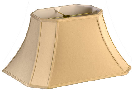 Shallow Cut Corner Rectangle Bell Soft Tailored Lampshade