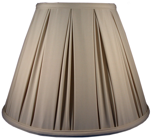 Box Drape over Belgium Pleat Soft Tailored Lampshade Style