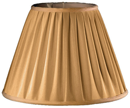 Rolled Box Pleat, Gather Bottom Soft Tailored Lampshade Style