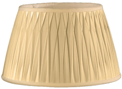 Rolled Box Pleat, Smock Top Soft Tailored Lampshade Style