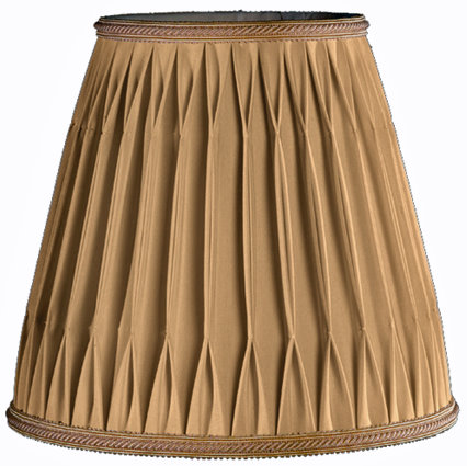 Rolled Box Pleat, Smock T&B Soft Tailored Lampshade Style