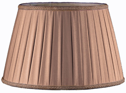 Rolled Box Pleat Soft Tailored Lampshade Style